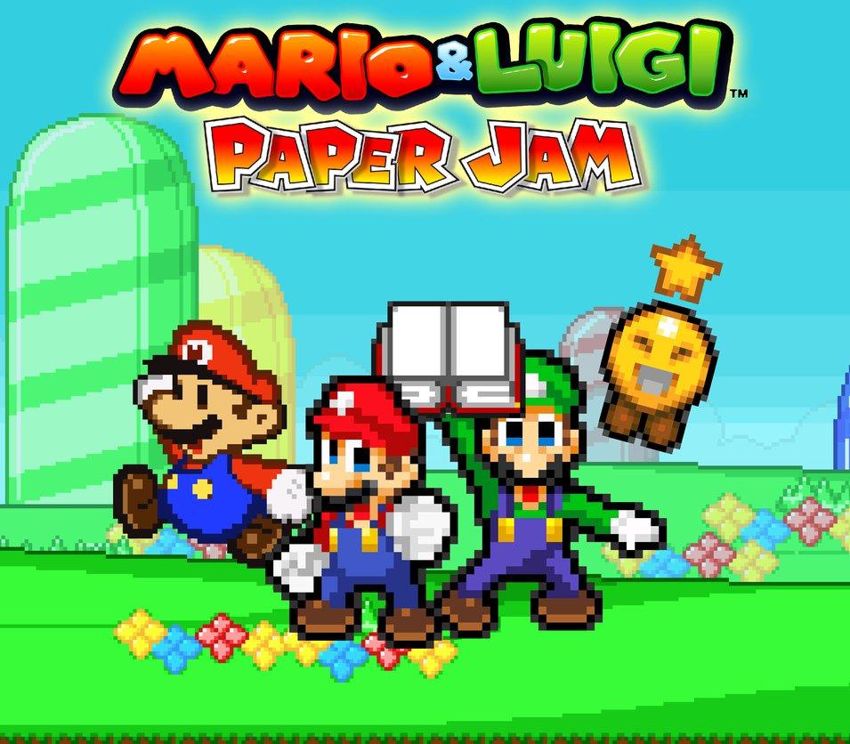 mario and luigi paper jam peach
